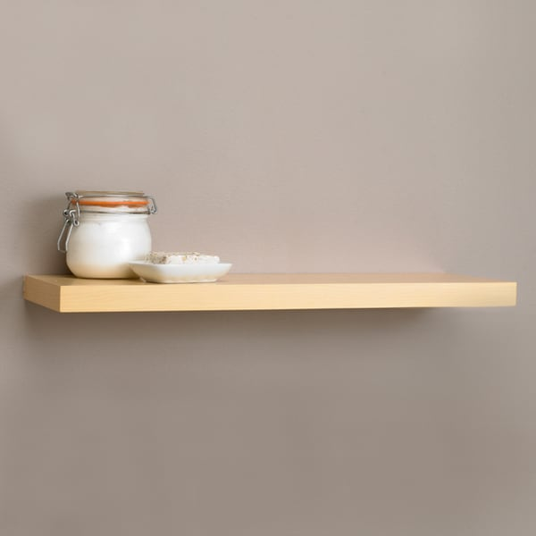 Square Edge 35.4-inch Bracket-less Shelf Kit with Light Oak Finish