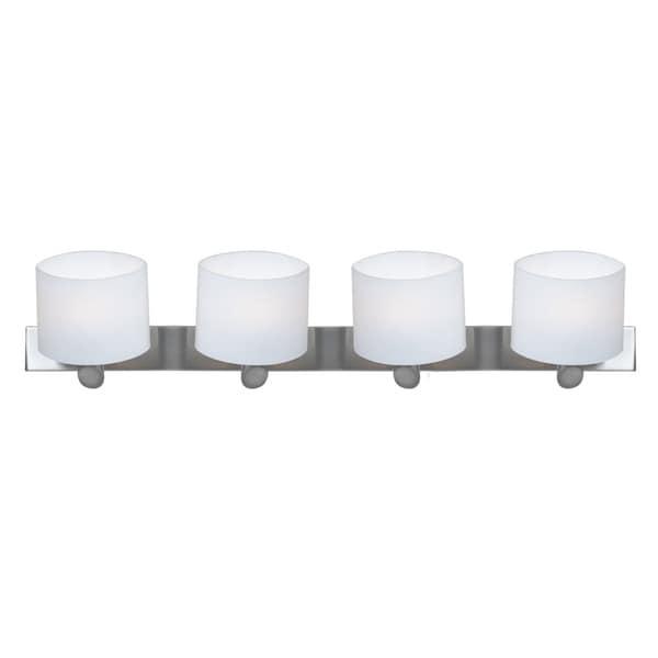 Access Vapor 4-light Brushed Steel Vanity Fixture