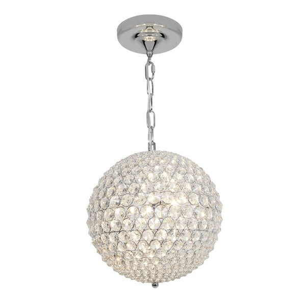 Access Kristal 3-light Chrome Ball Pendant