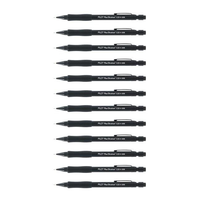 Pilot H-305 Shaker .5mm Mechanical Pencils (Pack of 12)|https://ak1.ostkcdn.com/images/products/7211006/80/579/Pilot-H-305-Shaker-.5mm-Mechanical-Pencils-Pack-of-12-P14695793.jpg?_ostk_perf_=percv&impolicy=medium