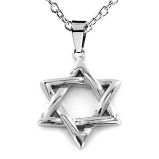 Stainless Steel 'Star of David' Pendant