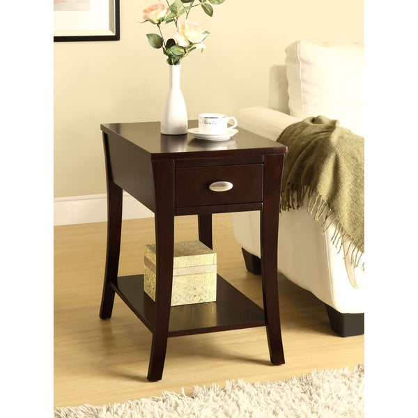 Espresso Side Table
