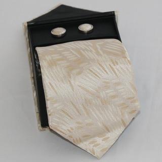 Ferrecci Men's 3-piece Tan Grain Necktie Set