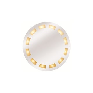 Access Reflections 12-light Molded Frosted Round Illuminated Mirror