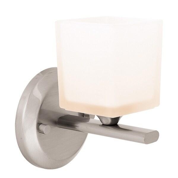 Access 'Hermes' 1-light Brushed Steel Vanity Fixture