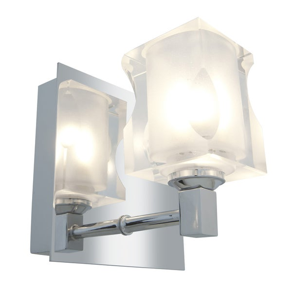 Access Glas'e 1-light Chrome Square Vanity Fixture