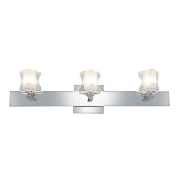 Access Glas'e 3-light Chrome Triangular Vanity Fixture