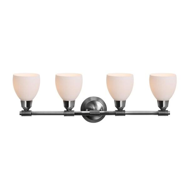 Access 'Greko' 4-light Brushed Steel Vanity Fixture