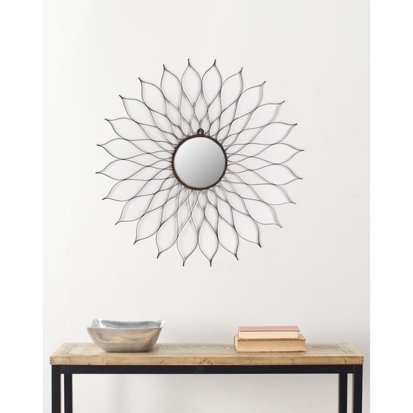 "Safavieh Handmade Art Rustic Flower 35-inch Decorative Mirror - 35"" x 35"" x 0.5"". Opens flyout."