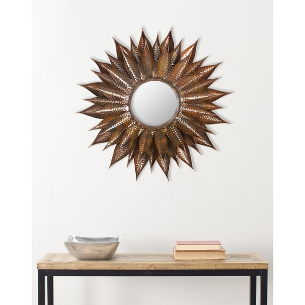 Safavieh Handmade Arts and Crafts Copper 26.5-inch Sunburst Mirror