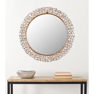 "Safavieh Handmade Art Twigs Copper 29-inch Round Decorative Mirror - 29"" x 29"" x 15"""