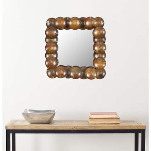 "Safavieh Handmade Art Coconut Copper 20-inch Decorative Mirror - 20.1"" x 20.1"" x 2"""