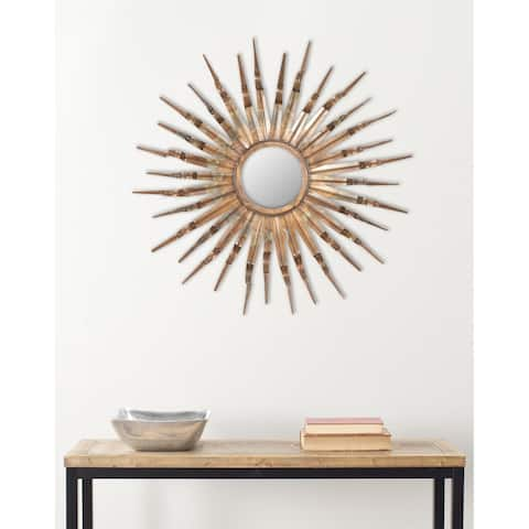 "Safavieh Handmade Art Nova Sunburst 33-inch Decorative Mirror - 33"" x 33"" x 1.5"""