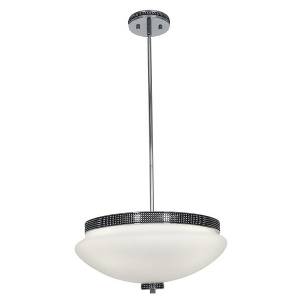 Access 'Onyx' 4-light Chrome Bowl Pendant