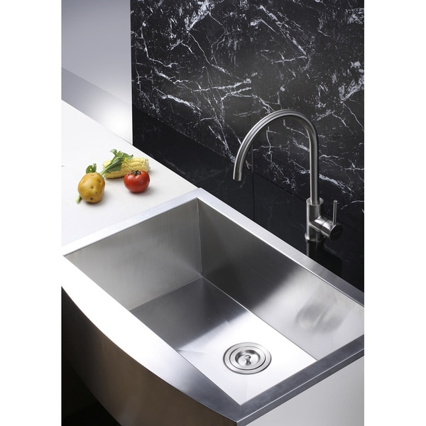 Ruvati RVF1110BN Single Handle Kitchen Faucet - Brushed Nickel