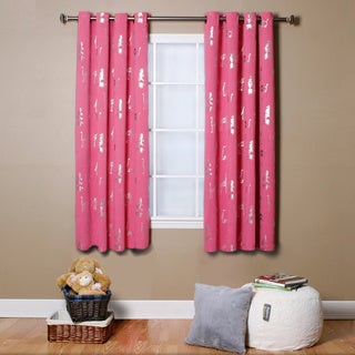 Aurora Home Animal Foil Printed Grommet Top Blackout Curtain Pair