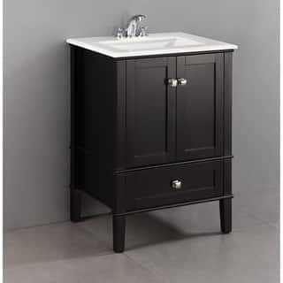 bathroom vanity with cabinet on top. WYNDENHALL Windham Black 2 door 24 inch Bath Vanity Set with Bottom Drawer  and Storage Cabinet Bathroom Vanities Cabinets For Less