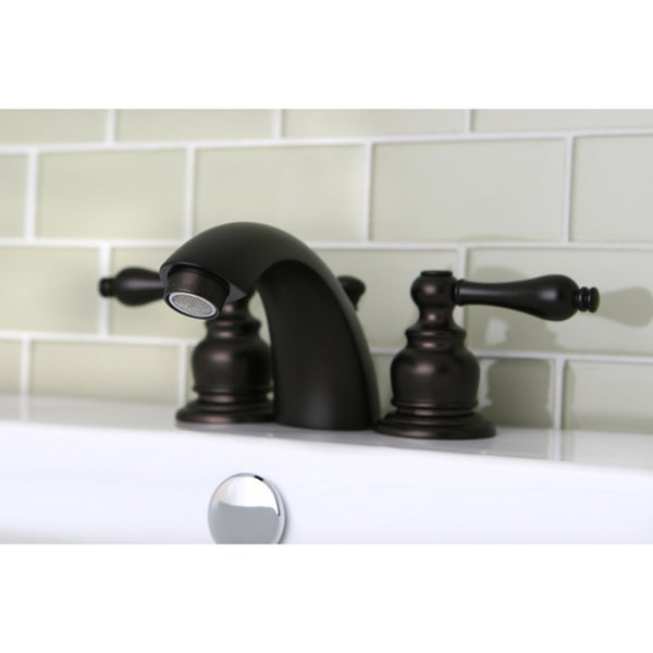 Mini-widespread Oil Rubbed Bronze Bathroom Faucet - Free Shipping ...