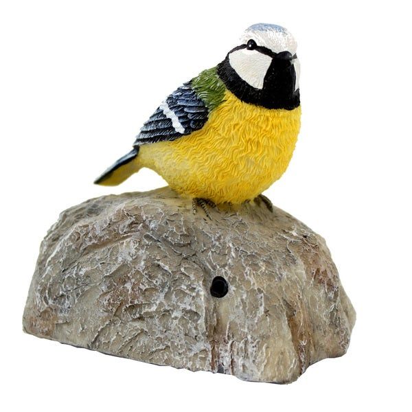 Battery Operated Chirping Yellow Bird with Sensor