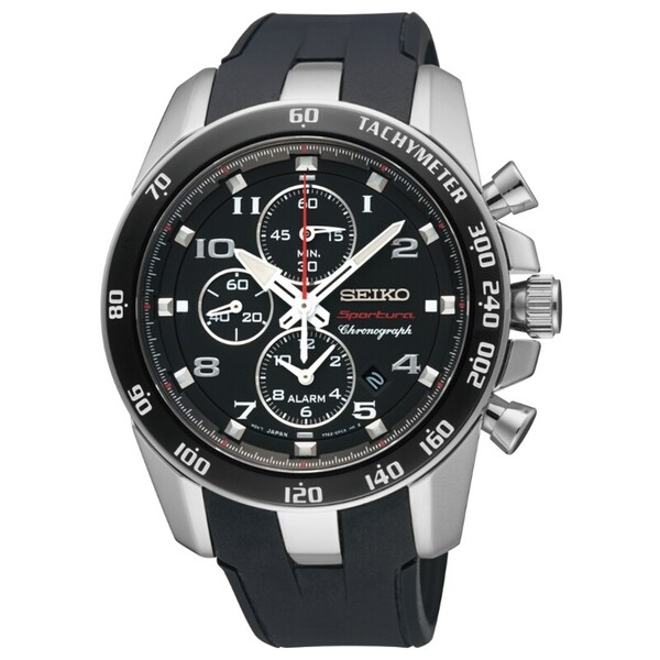 Seiko Men's Sportura Alarm Chrono Landon Donavon Signature Watch