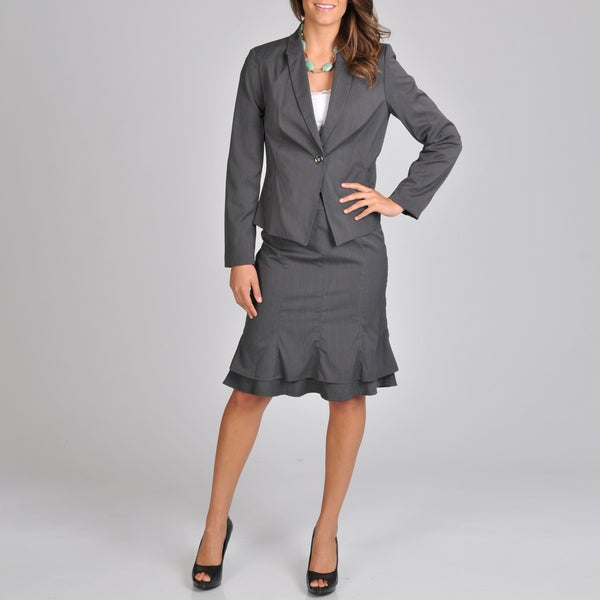 Signature by Larry Levine Women's Fashion Skirt Suit