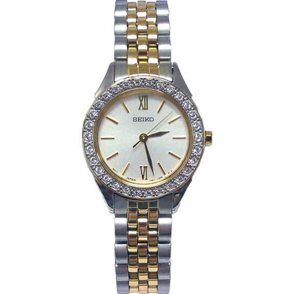 Seiko Women's Dress Gold Accent Watch