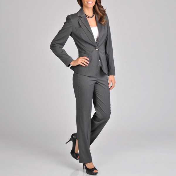 Signature by Larry Levine Women's Double Lapel Pant Suit