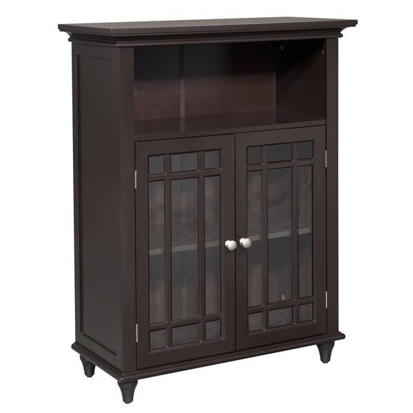 Stripe Double Door Floor Cabinet by Elegant Home Fashions