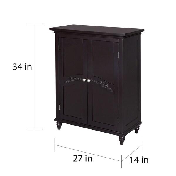 Yvette Dark-Espresso Two-Door Floor Cabinet by Essential Home ...