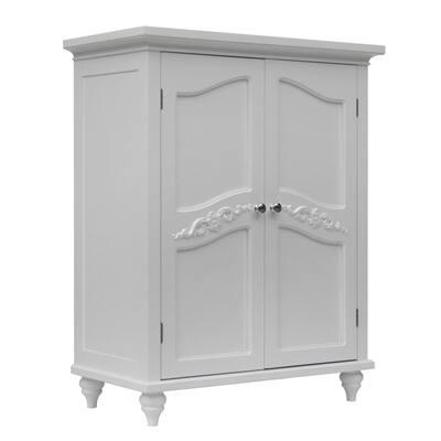 Yvette White Two Door Floor Cabinet
