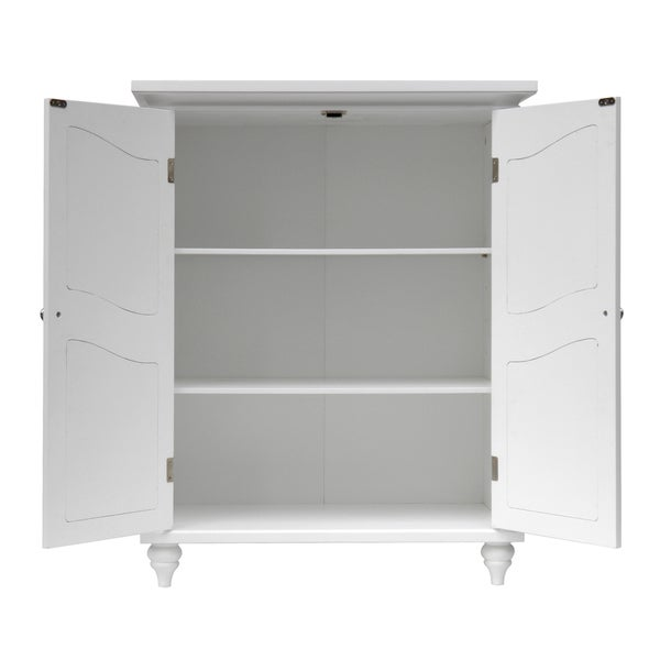 Yvette 2 Door Floor Cabinet By Essential Home Furnishings   Free Shipping  Today   Overstock.com   14696059