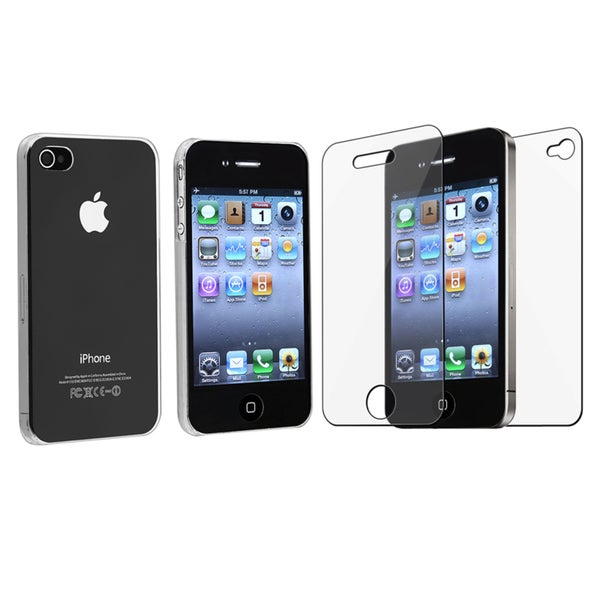 INSTEN Apple iPhone 4 4G New Premium Crystal Clear Plastic Hard Plastic Back Skin Phone Case Cover