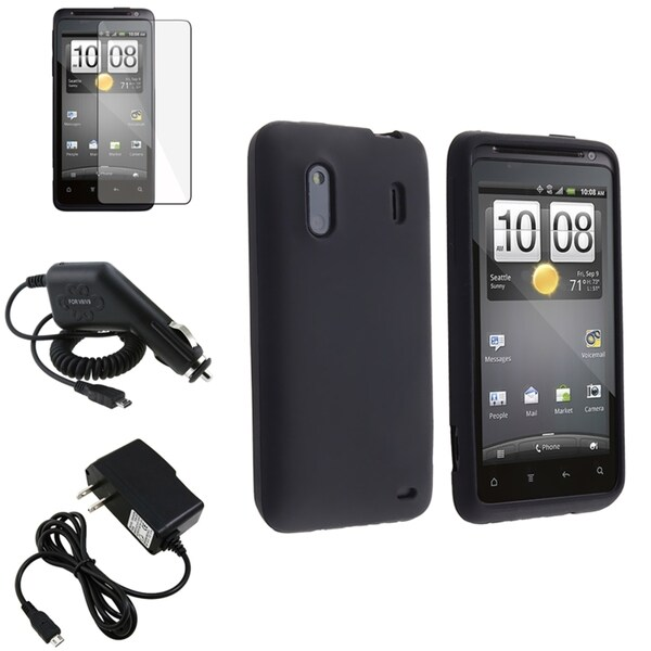 INSTEN Phone Case Cover/ Protector/ USB Cable/ Car Charger for HTC EVO Design 4G