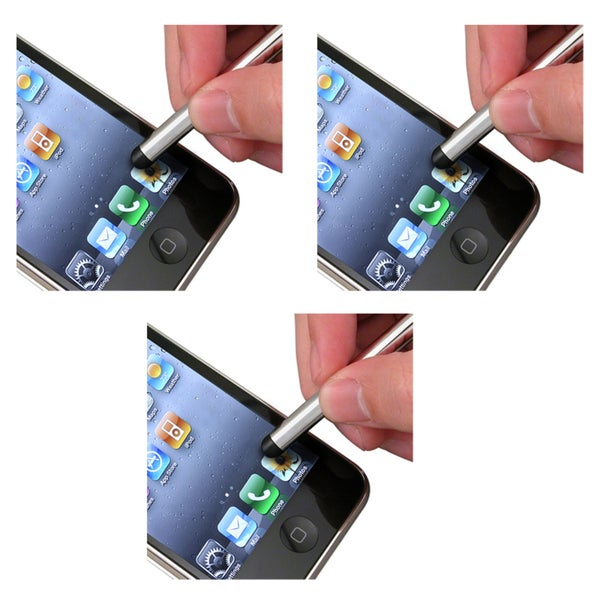 INSTEN Silver Stylus for HTC myTouch 4G (Pack of 3)