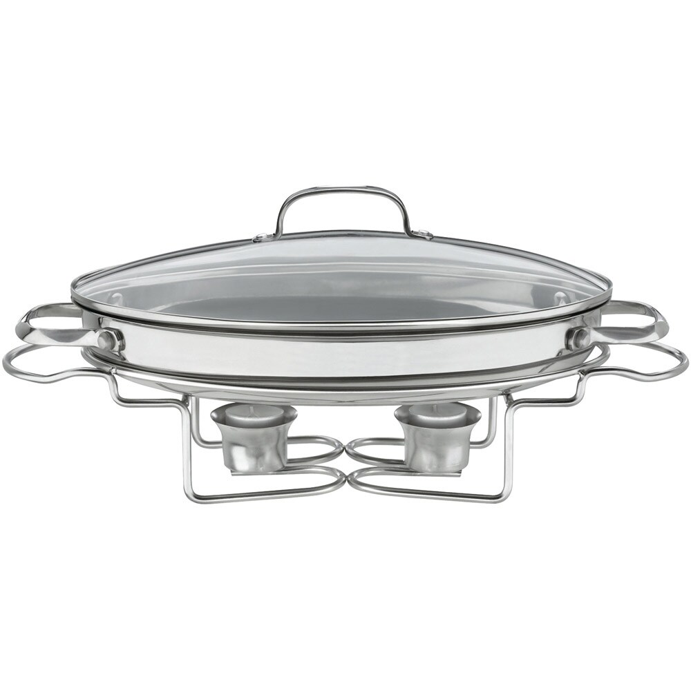 Stainless Steel (Silver) 13 1/2 Oval Buffet Server