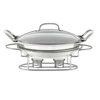 Stainless Steel Round 3-quart 12-inch Buffet Server|https://ak1.ostkcdn.com/images/products/7211737/P14696311.jpg?impolicy=medium