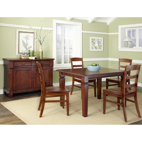 The Aspen Collection 5 Piece Dining Set by Home Styles