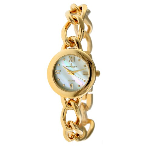 Peugeot Women's '' Mother of Pearl Goldtone Watch