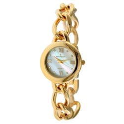 Peugeot Women's '3774G' Mother of Pearl Goldtone Watch
