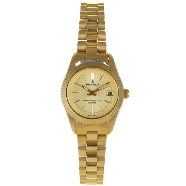 Peugeot Women's '174L' 3-link Goldtone Bracelet Watch