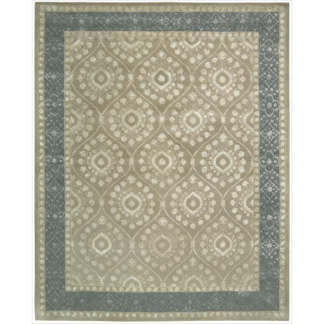 Nourison Hand-tufted Symphony Brocade Taupe Rug (7'6 x 9'6)