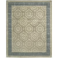 Nourison Hand-tufted Symphony Brocade Taupe Rug (7'6 x 9'6) - 7'6 x 9'6