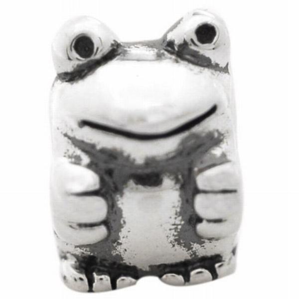 De Buman Sterling Silver Frog Charm Bead
