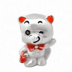 De Buman Sterling Silver Enamel Funny Bear Charm Bead
