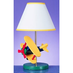 Cal Lighting Airplane Childrens Table Lamp