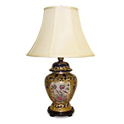 Royal Medallion Jar Table Lamp