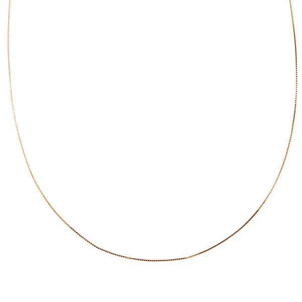 """Adjustable Rope Pendant Chain 14K Rose Gold 18/"""" to 20/"""" Length 1.1mm Lightweight"""