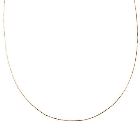 Roberto Martinez 14k Rose Gold Box Chain Necklace (16-20 Inch) - Pink