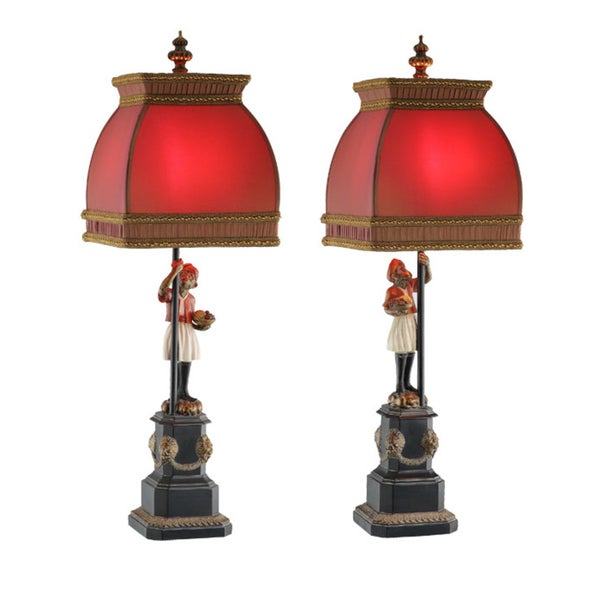 Pair Arabian Monkey Lamps