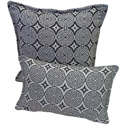 Corona Decor Steel and White Indoor/ Outdoor Decorative Throw Pillow (Set of 2)